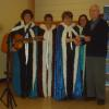 ​FNHA member Dow Johnston with December 2016 guest performers the Doucette Family.