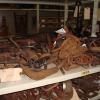 A collection of historic iron tools in the provincial furniture collection.