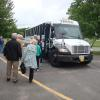 FNHA members boarding the tour bus taking them to Camp Gagetown and the New Brunswick Military Museum.