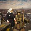 Another display from the NB Military Museum depicting a nurse aiding a soldier in the trenches during World War One.