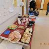 A view of the Christmas food fare on display at the December meeting.